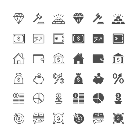 enable: Business and investment icons, included normal and enable state.