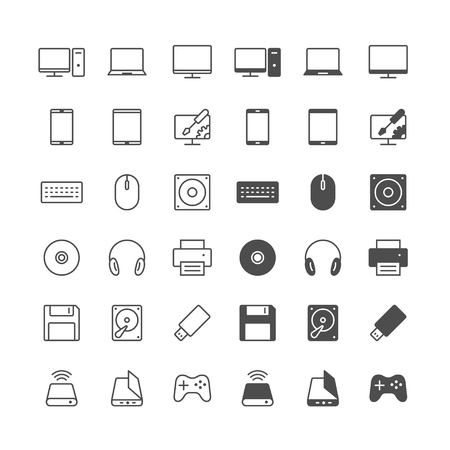 Computer icons, included normal and enable state. Stock Vector - 54324493