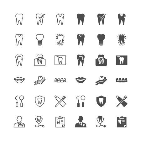 Stomatologiczne ikony, zawarte normalne i umożliwić stan.