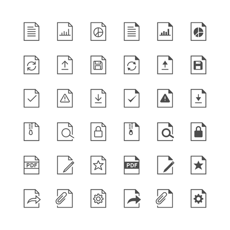 internet mark: Document icons, included normal and enable state.