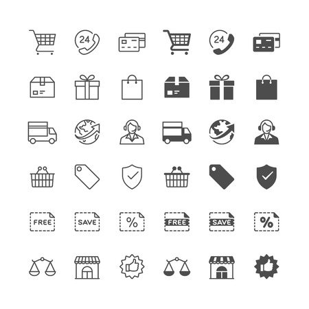 enable: E-commerce icons, included normal and enable state.