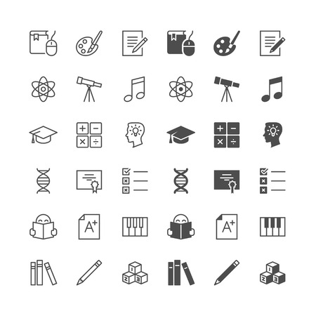 Education icons, included normal and enable state. Stock Illustratie