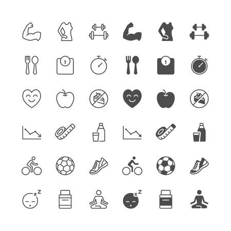enable: Health care icons, included normal and enable state. Illustration