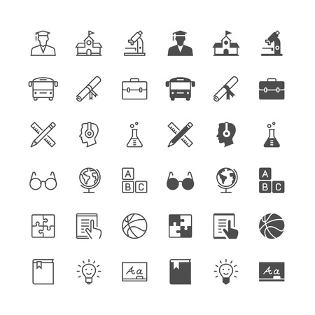 enable: Education icons, included normal and enable state. Illustration