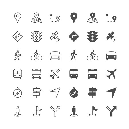 directions icon: Navigation icons, included normal and enable state.