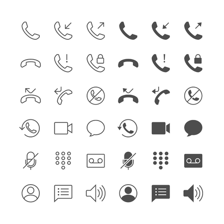 miss call: Telephone icons, included normal and enable state.