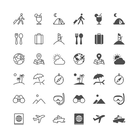 enable: Traveling icons, included normal and enable state. Illustration