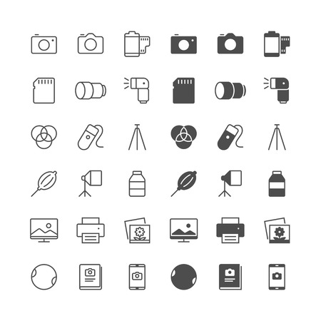 photography icons: Photography icons, included normal and enable state.