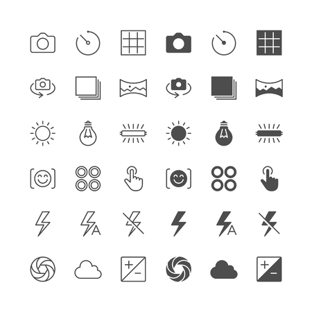 enable: Photography icons, included normal and enable state.