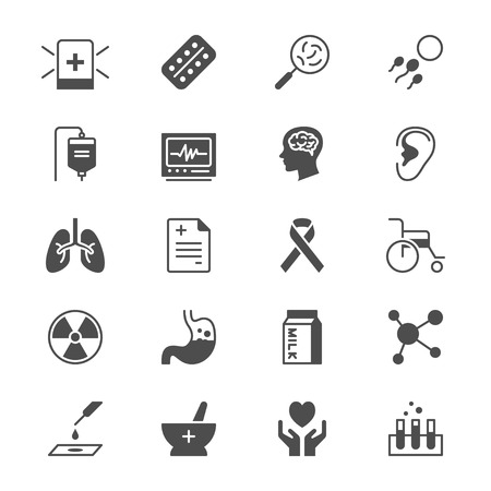 Health care flat icons Illustration