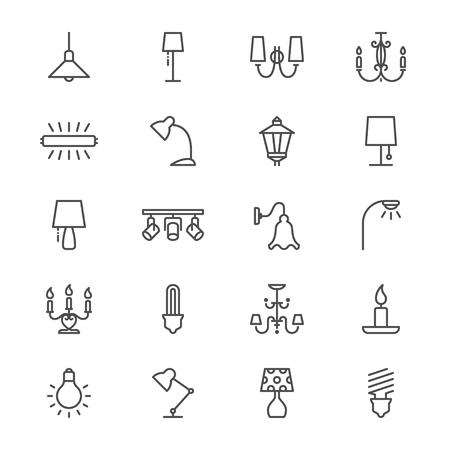 Light thin icons