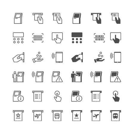 human touch: Kiosk icons, included normal and enable state.