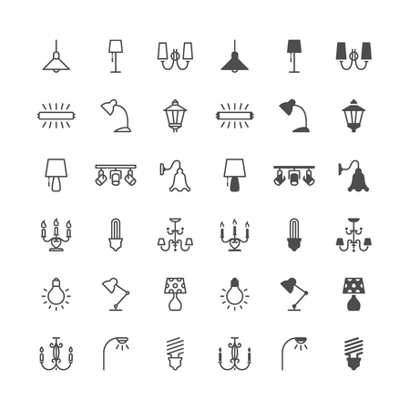 Light icons, included normal and enable state. Ilustrace