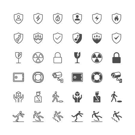 Safety icons, included normal and enable state.