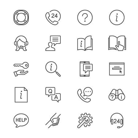 Help en ondersteuning van dunne pictogrammen