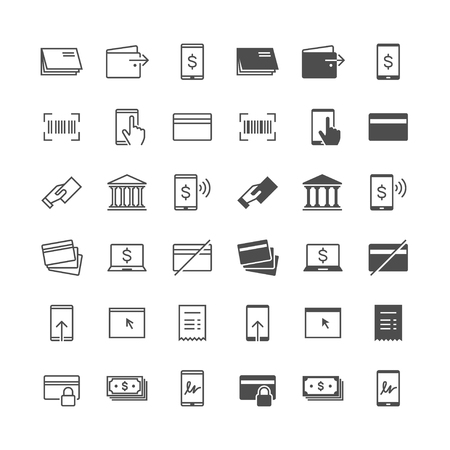 enable: Internet banking icons, included normal and enable state.