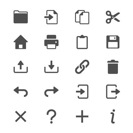 Application toolbar glyph icons