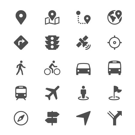 Symbole für Navigationsglyphen