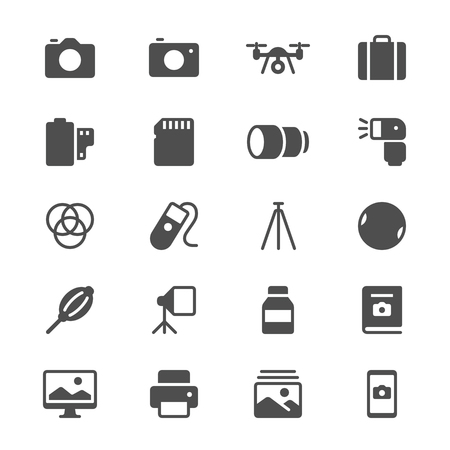 Photography glyph icons