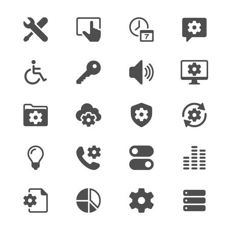 Setting glyph icons  イラスト・ベクター素材