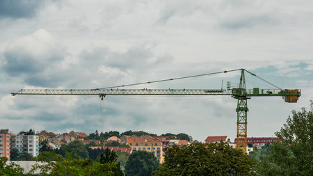 Crane over the block of flats