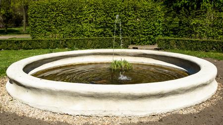 garden fountain: Fountain in the  garden