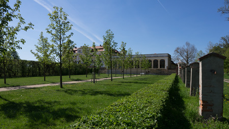 Garden next to the Milotice Castle