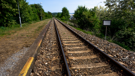Long rail tracks photo