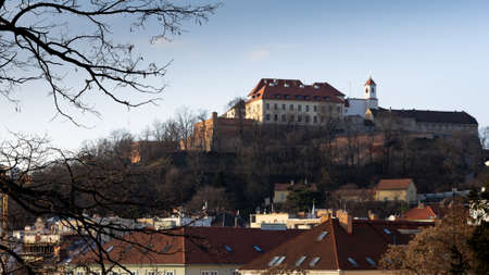 Spielberk Castle in the late afternoon