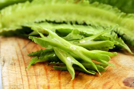 Aile Bean (Tua Poo) est très croquant et goût quelque peu similaire à la longue de haricots. Il est consommé cru et est également utilisé dans les croquettes de poisson Tod Mun. Banque d'images