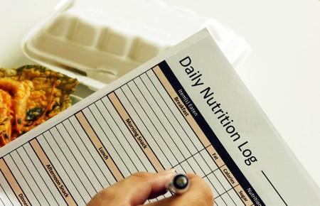 Journal quotidien de nutrition  Banque d'images - 8101892
