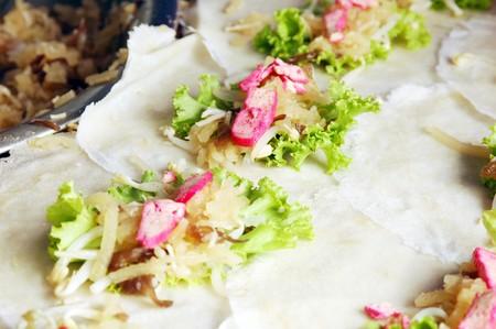 Fresh spring rolls in Phuket vegetarian festival  photo