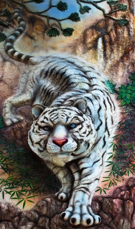 white tiger  Stock Photo - 11105695