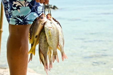 Sea Gypsies and andaman fish  photo