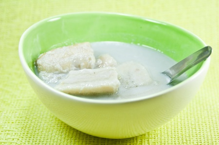 banana in coconut milk  photo