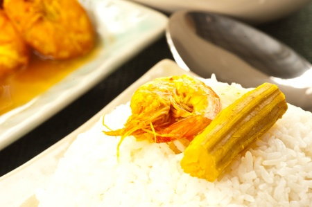 the drumstick tree: Hot and sour curry form drumstick tree and prawn