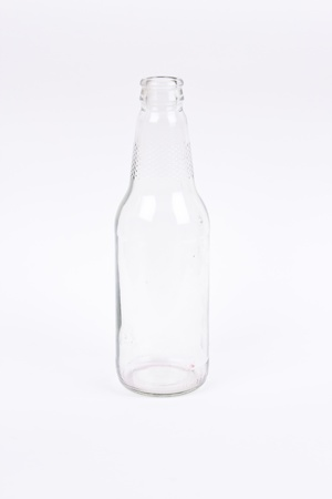 transparent glass bottle  photo