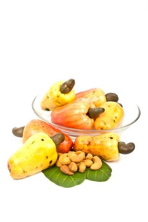 phuket food: Cashew Nut Apple and Fresh Cashew Nut  Stock Photo
