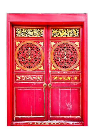Old  door of Chinese house Stock Photo - 15246336