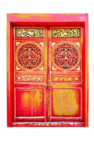 Old  door of Chinese house Stock Photo - 15246344
