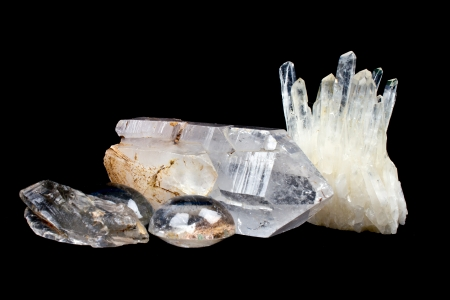 Les cristaux de quartz Banque d'images