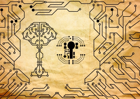 Abstract key circuit background  photo