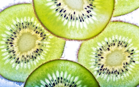 kiwi fruit in soda water  photo