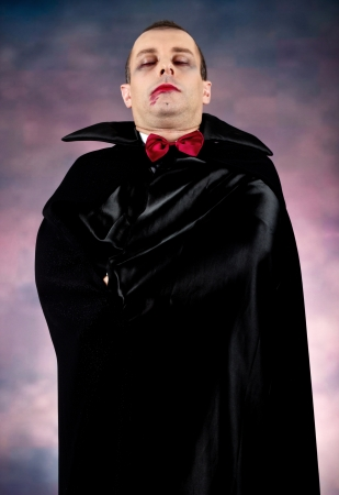 Portrait of a man with Count Dracula style make-up  Shot in a studio Stock Photo - 15812464