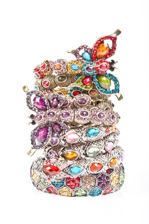 a bracelet: bracelets Stock Photo