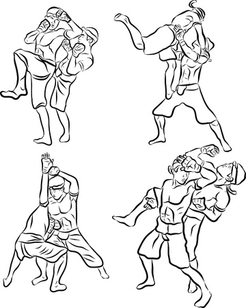 macho man: hand drawn Thai martial arts and muay thai boran