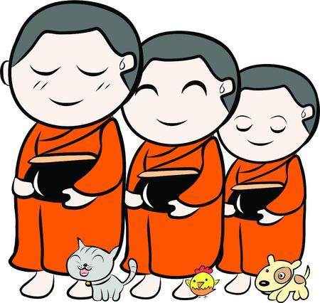 monk: little monk  Illustration