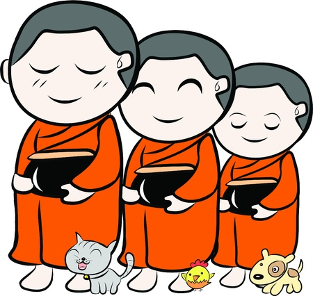 moine: petit moine Illustration