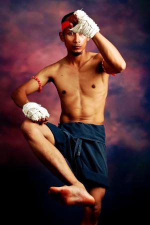 muay thai boran fighter  photo