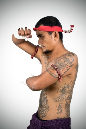 muay thai boran fighter  photo